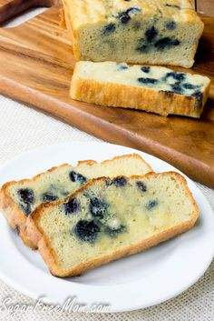 Low Carb Blueberry English Muffin Bread Loaf-gluten free, grain free, keto, THM- sugarfreemom.com