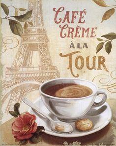 Cafe in Europe II by Lisa Audit art print