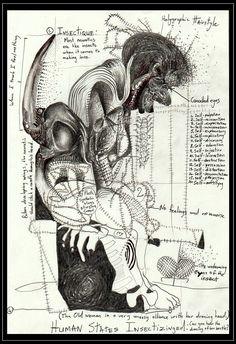 African, Surrealist, Surreal Art, Artist, South African, Surrealism, Humanoid Sketch
