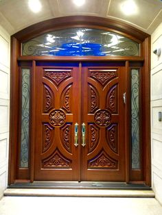 Here is a sampling of our hand made Double Entry Doors. More designs are available and we can also help create your own custom design. House Main Door Design, Wooden Front Door Design, Wooden Double Doors, Double Door Design, Room Door Design, Double Entry Doors, Wooden Front Doors, Front Entry, Entry Doors With Glass