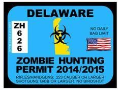 Delaware Zombie Hunting Permit
