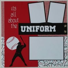Baseball Sports Uniform premade scrapbook layout by ohioscrapper, $15.00