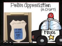 This is a craft for Police Appreciation week or Thank a Police Officer Day. I have a blog post on this, that I would love for you to check out:Police Appreciation Blog Post