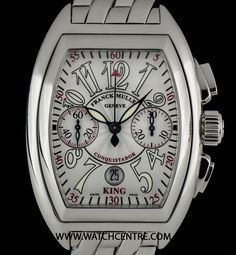 http://www.watchcentre.com/product/franck-muller-stainless-steel-king-conquistador-chrono-bp-8001-cc-king/10016  #FranckMuller #Conquistador #Gents #Wristwatch #WatchCentre #London