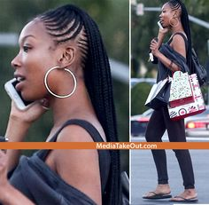 PRETTY CHICK!! R&B Singer Brandy Spotted OUT IN LA . . . .Rockin' Some FRESH-OUT-THE-SALON Braids!!!