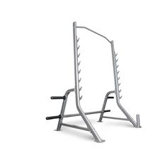 """BodyCraft F460 Squat Rack Half Cage only $699 with Free shipping at Unique Fitness Concepts The Bodycraft Squat Rack Half Cage features stylish 3.25"""" X 1.75"""" 12 Gauge Oval tubing, and .25"""" thick laser cut bar hooks allowing it to handle up to 800 lbs!"""