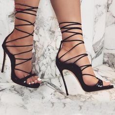 372c97c078 Sexy Ankle Lace-Up Stiletto High Heels