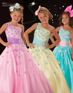 Wholesale Hot fashion rainbow Pageant dresses for weddings Kids evening gowns flower girls dresses 2013 f204, $89.6-94.08/Piece | DHgate