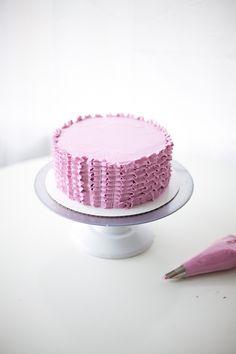 how to make a ruffle cake - coco cake land