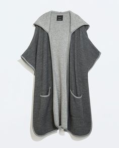 Image 7 of HOODED CAPE WITH PIPING from Zara