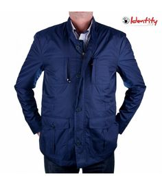 Jacheta indigo de primavara Indigo, Raincoat, Shirt Dress, Mens Tops, Shirts, Dresses, Fashion, Rain Jacket, Vestidos