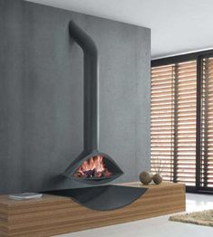 Fireplaces On Pinterest Hearth Modern Fireplaces And Hanging Fireplace