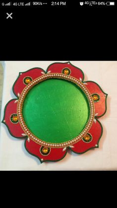 For details and price whatsup me 8623803898 Diwali Decoration Items, Thali Decoration Ideas, Diwali Diy, Diwali Craft, Festival Decorations, Wedding Decorations, Christmas Decorations, Name Plates For Home, Trousseau Packing