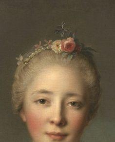 Jean-Marc Nattier, Madame Le Fèvre de Caumartin as Hebe (detail) 1753