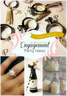 A great (new) list of trendy engagement party ideas. You can make these work for a variety of types of brides! #engagementparty #snappening