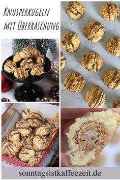 Diese Knusper Kugeln sind sehr einfach zumachen. Ich mag, keine komplizieren Plätzchen, daher sind diese Weihnachtsplätzchen genau das Richtige. Innen haben sie eine tolle Überraschung- und zwar eine Giotto Kugel. Step by Step Anleitung gibt es auch auf meinem Blog dazu! #weihnachtsplätzchen #weihnachtsplätzchenbacken #weihnachtsplätzchenrezept  #giotto #einfach #schnell  #weihnachtsplätzchenausgefallen Fabulous Foods, Muffin, Cupcakes, Breakfast, Blog, Desserts, Fish Dishes, Giotto, Breakfast Cafe