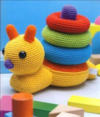 Patroon stapelslak. Fab crochet toy idea.