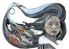 SEDNA...Inuit Goddess of the Life of the Sea(Sedna by Antony Galbraith www.doanart.com)