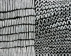Lena Nyadbi, Daiwul & Jimbala, 2003, Natural earth pigments on canvas, 100 x 80 cm. Warmun Art Centre.