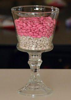 Spray Painted Beans for vase filler