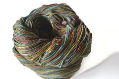 Hand Dyed Sock Yarn BFL/Nylon Sock Yarn by KookaburraYarns on Etsy