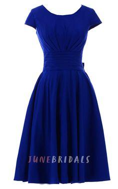 Sunvary Short Sleeves Bridesmaid Dress Evening Pageant Dress Short - US Size Royal-blue Sunvary Pretty Outfits, Pretty Dresses, Beautiful Dresses, Modest Dresses, Bridesmaid Dresses, Short Sleeve Dresses, Short Sleeves, Homecoming Dresses, Chiffon Dresses
