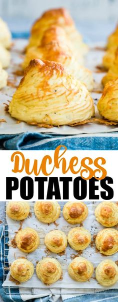"""Duchess potatoes (pronounced """"du-chess"""") make an outstanding accompaniment to any holiday meal or buffet. They have the pillowy softness of a twice baked potato with a crunchy baked exterior from shapes you pipe right on the baking sheet. But don't let their ornate look fool you— these potatoes are as easy to prepare as they are elegant, and can be made well ahead of the party and frozen, to be baked as needed."""
