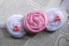 Pink and White Headbands So Sweet for Baby by TheCraftyEuropean, $9.50
