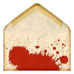 splattered blood envelope for invitations