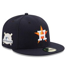 #Fanatics.com - #New Era Houston Astros New Era 2017 Postseason Side Patch 59FIFTY Fitted Hat – Navy - AdoreWe.com
