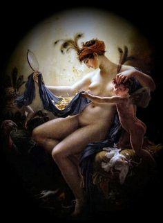 Δεσποινίδα ως Δανάη Anne Louis Girodet (1799)
