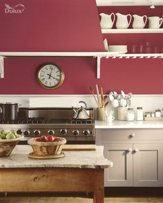 Playful pinks can be a unique alternative to statement reds. Whether strikingly bold, sugary sweet or dusky and subtle, there's a tone to suit your mood.   Featuring Raspberry Diva and Mellow Mocha by Dulux.