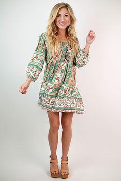 Fall In Love Dress in Jade