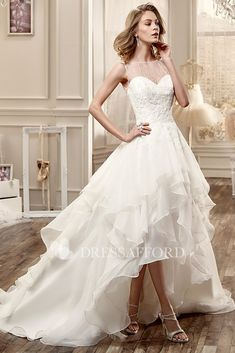 Cheap high low wedding dresses b75f12f04a67