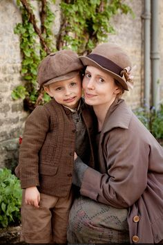 Ethel, a former house maid of Downton forced to leave because she was caught having an affair with a man staying there.  she got pregnant and this is her cute son Charlie.