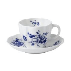 Royal Crown Derby - POSIE BLUE TEA CUP & SAUCER