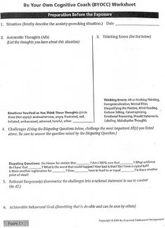 anxiety cbt worksheets | Therapy resources | Pinterest ...