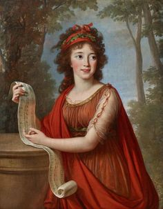 "Elisabeth Vigee-Lebrun ""Portrait of Maria Francizca Palffy"", 1793 Portraits, Portrait Art, Nostalgic Art, Academic Art, Elisabeth, Empire Style, Classical Art, Historical Costume, Art Deco Jewelry"