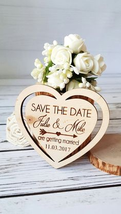 Items similar to Wooden Save The Date Magnets Heart Save The Date Favor Wedding Tags Wedding Save The Date Card Wedding Favor Magnets Wooden Thank You Gift on Etsy Wedding Anniversary Cards, Wedding Favor Tags, Card Wedding, Save The Date Magnets, Save The Date Cards, Save The Date Photos, Personalized Thank You Cards, Personalised Wedding Invitations, Party Invitations