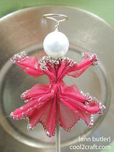 Wire Ribbon Angel by Ann Butler - http://www.cool2craft.com/wire-ribbon-angel-by-ann-butler