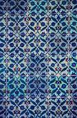 Ancient Iznik Tiles with Floral Pattern