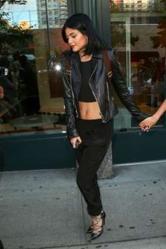 Take a cue from Kylie's edgy style and rock black from head to toe. The key to making it stand out i... - Getty Images