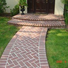 Herringbone Brick walkways and stairs Saratoga   Yelp