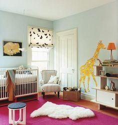Decoración en cuarto de bebé.