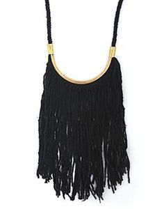 Image of Lunate Fringe Logwood Black/ Brass