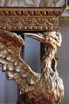 https://flic.kr/p/mYiD3H | Gilded stork from a buffet or sideboard in the Saloon at Holkham Hall, Norfolk | Gilded stork from a buffet or sideboard in the…