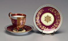 Royal Vienna cup and saucer,19th century