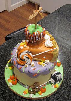 Jameson 1st Birthday cake..maybe? Fall Birthday Cakes, Birthday Treats, Happy Birthday, Holiday Cakes, Holiday Fun, Halloween Cakes, Halloween Ideas, Fall Cakes, Fall Wedding Cakes