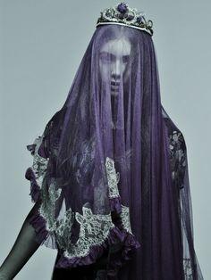 Meadham Kirchhoff #veil #crown #portrait #fashion #editorial