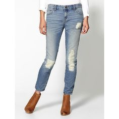 Free People Slim Slouch Jean ($80) ❤ liked on Polyvore